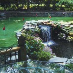 Golf Green with Water Feature